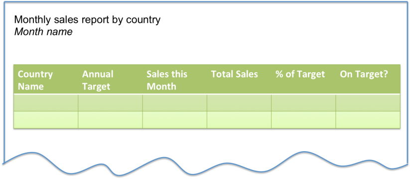Lineage - Monthly Sales Report Example